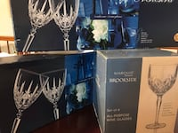 2 boxes of Orchesta  gobblets & Wine glasses and set of Brookside Marquis wine glasses Springfield, 22153