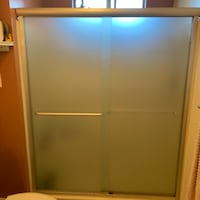 Frosted shower and bathtub shower doors  Ventura