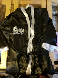 2 Coors Light satin housecoat, black. 2 for $5