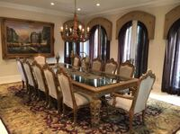 Dining Room Table Set w/ Chairs Beverly Hills