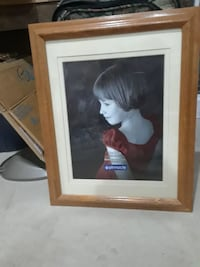 14x18 matted wood picture frame