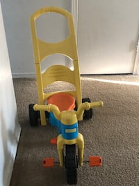 toddler's yellow and blue push trike Windsor, 06095