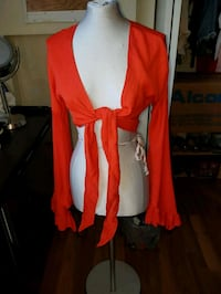 women's red and white sleeveless dress Surrey, V3R 6Y6