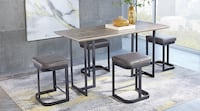 Jansen gray dining table. Bench and two chairs Washington, 20019