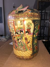 Chinese character vase