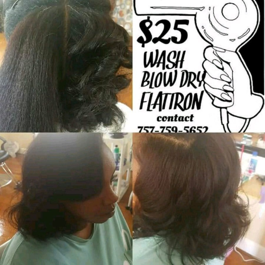 $25 Wash, Blow Dry, Flat Iron
