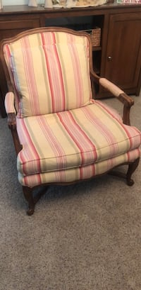 pink and white striped fabric sofa chair Largo, 33774
