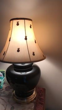 brown and white table lamp Great Falls, 22066
