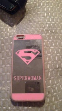 black and pink Superwoman iPhone rear case Phoenix, 85307