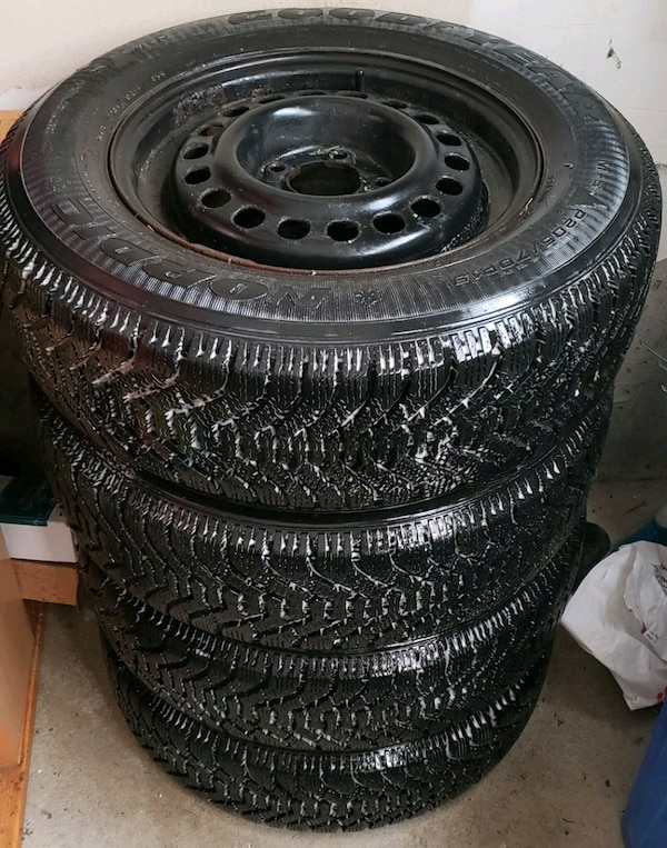 Goodyear Nordic Winter Tire >> Used Goodyear Nordic Winter Tires And Rims 205 70 15 For Sale In