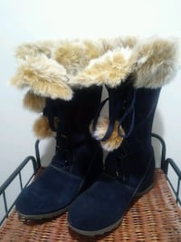 Sporto Navy Suade Boots size 10