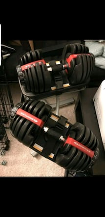 bowflex dumbbells with bowflex stand included
