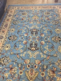 Blue, white, and brown floral area rug Chico, 95973