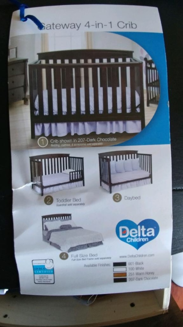 Solid Wood Baby Crib With Memory Foam Mattress Hardly Used Like