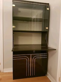Black cabinet with hutch Toronto, M9C 1Y6