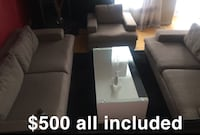 Couches rug and coffee table Edmonton, T6V 1W6