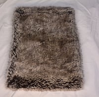 White and black fur textile Mississauga, L5M 7A5