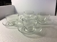 ARCOROC Classic Clear Cups & Saucers - J. G. Durand - France Rockville, 20853