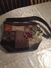 Brown and black coach leather handbag Odenton, 21113