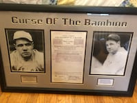 CURSE OF THE BAMBINO NY YANKEES BABE RUTH FRAMED CONTRACT (FRAMED) Yonkers, 10704
