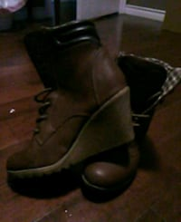 pair of brown leather boots Edmonton, T5T