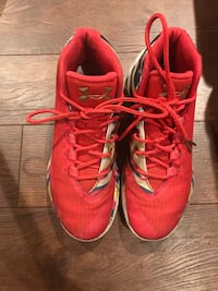 pair of red Adidas running shoes Burlington, L7N 1J3