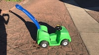 toddler's green plastic ride-on toy car Burnaby, V5E 3N5