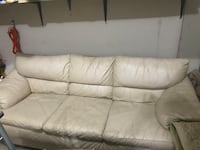 Beige Leather Couch Slightly Used $50.00 Silver Spring, 20902