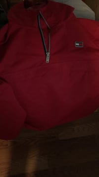 red and black zip-up hoodie Merced, 95341