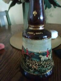 Vintage leather covered bottle New Llano, 71461