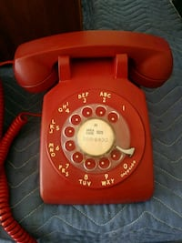 Red Rotary Antique Telephone Las Vegas, 89128