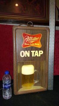 Vintage Miller Swag 3 Sided Clock Light.