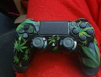Weed black and green Sony PS4 controller modded 40 Mount Holly, 28120