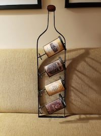 "33"" x 8 beautiful unique metal wine storage for wall"