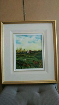 brown wooden framed painting of house New Westminster, V3M 1W5