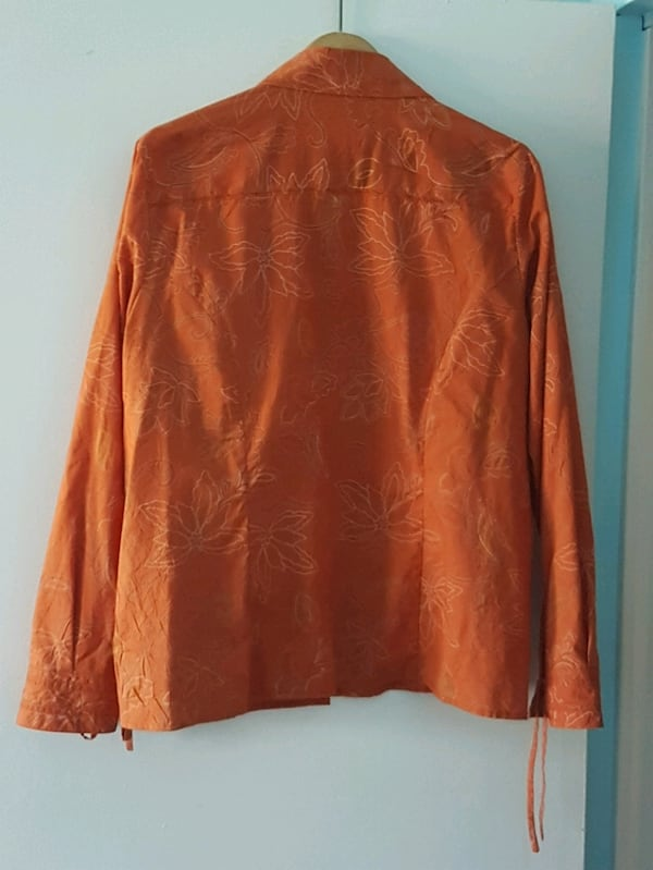 Orange with designs dress shirt  1b94e646-8f09-4520-a7da-d22277275b71