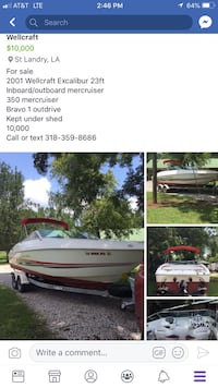 white and red speed boat Saint Landry, 71367
