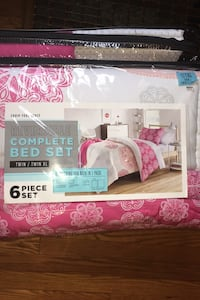 Twin complete bed set