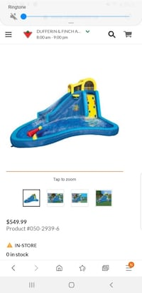 Water slide inflatable outdoor water park
