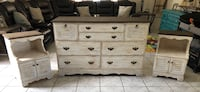 Vintage Farmhouse Dresser with Nightstands Chino Hills, 91709