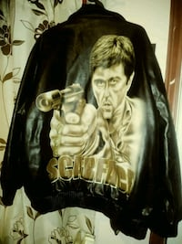 black and brown leather jacket San Benito, 78586