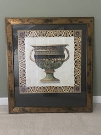 Black bronze and green wide mouth vase painting Gallatin, 37066
