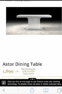 Astor dining table, white lacquer  Damascus, 20872