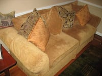 brown suede 3-seat sofa Altamont, 12009