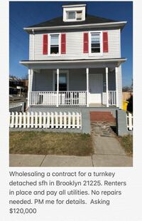 HOUSE For sale Baltimore, 21202
