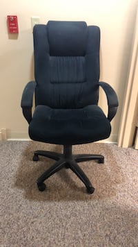 Black suede rolling office chair Winchester, 22601