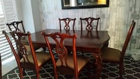 brown wooden dining table set Ajax, L1S 3W5
