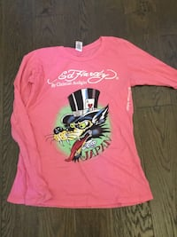 pink, white, black and green Ed Hardy Japan sweater