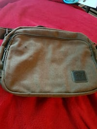 Brown canvas purse brand new