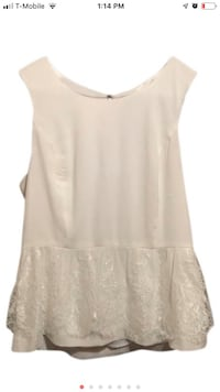 KENSIE Ivory sleeveless blouse (NEW) (check out my other items:) Chicago, 60630